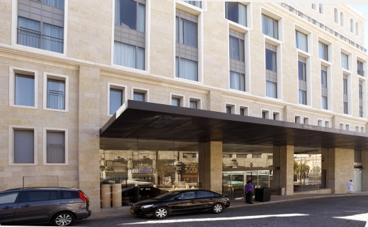 מבואת הכניסה למלון אלרוב ממילא ירושלים  תמונה מספר 3