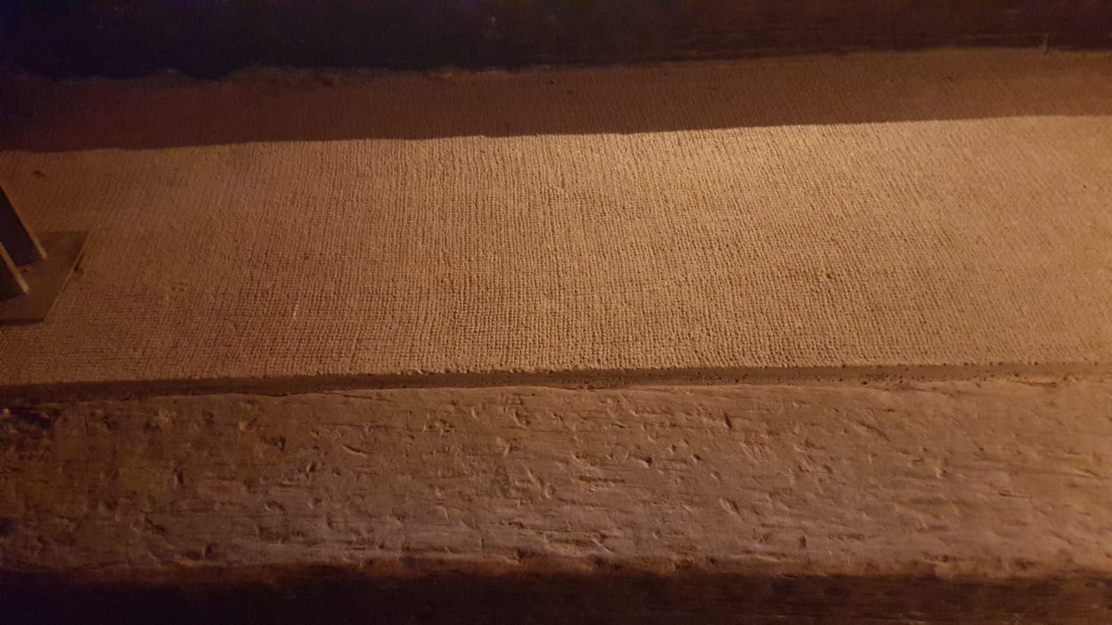 בטון חבוט מקרוב