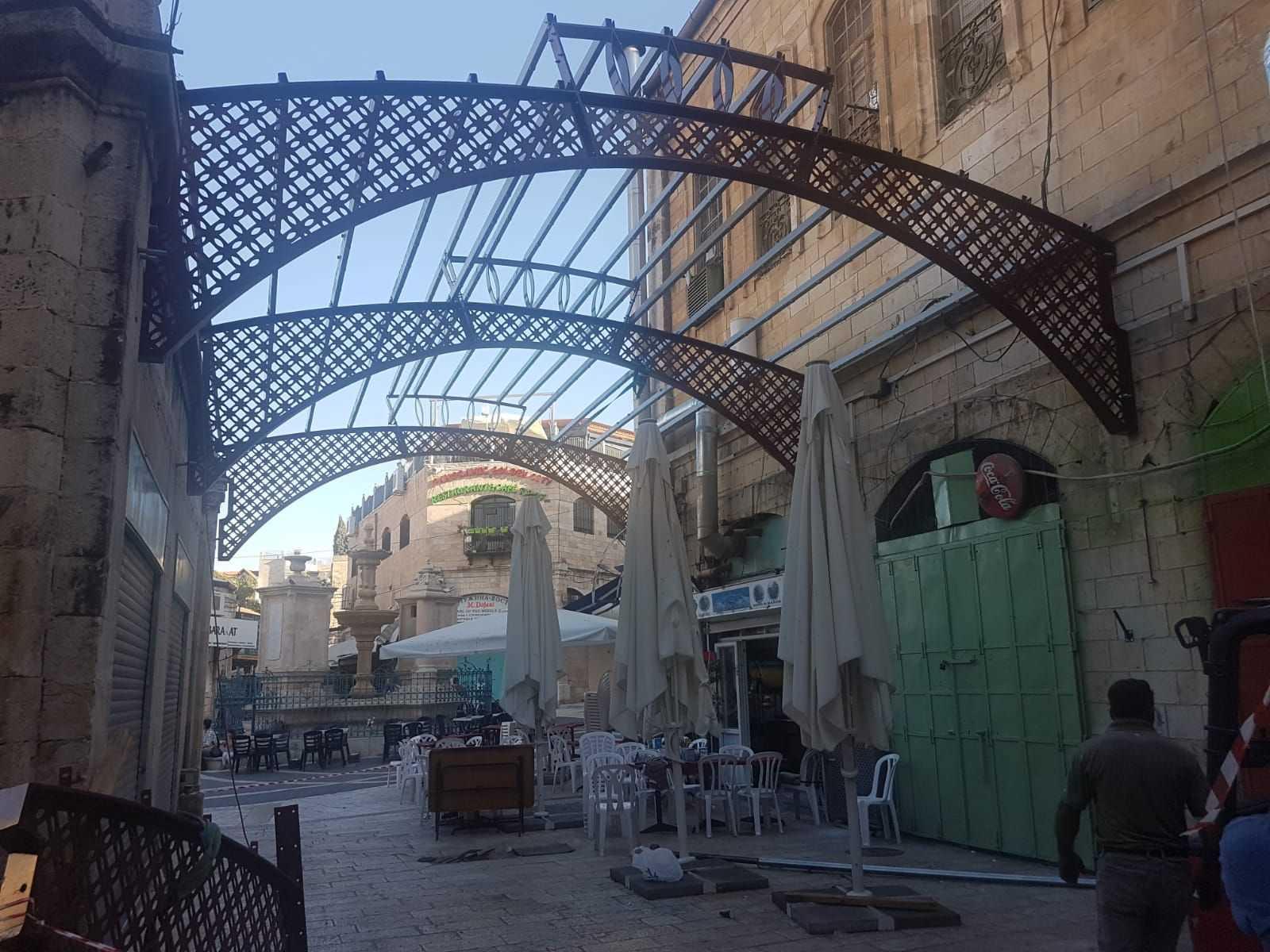 קירוי גגונים ברחוב המוריסטן תמונה מספר 1